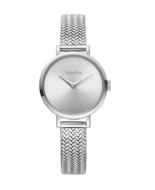 RUMBATIME Hudson Weave Silver Mesh Watch