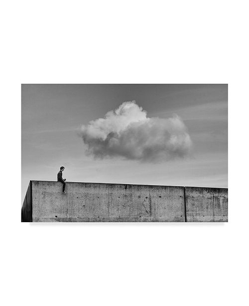 """Trademark Global Michelle Degryse 'Thoughts In The Cloud' Canvas Art - 24"""" x 2"""" x 16"""""""