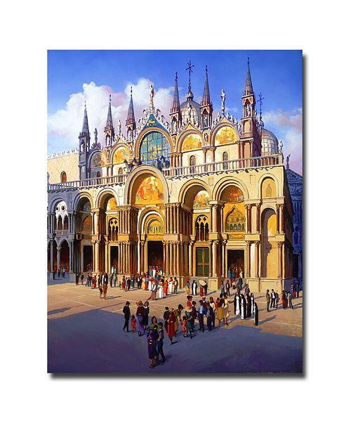 "Trademark Global The Palace by Hava Giclee Art - 24"" x 18"" x 2"""