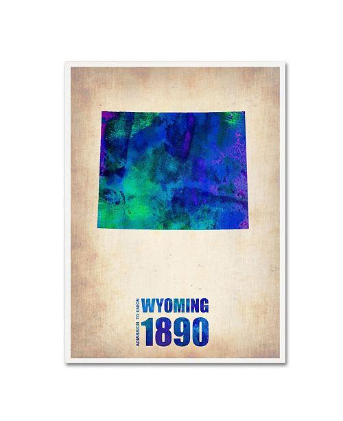 "Trademark Global Naxart 'Wyoming Watercolor Map' Canvas Art - 19"" x 14"" x 2"""