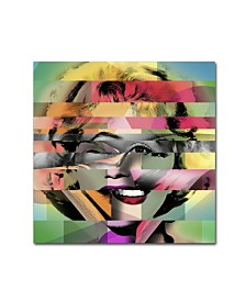 "Mark Ashkenazi 'Marilyn Monroe V' Canvas Art - 18"" x 18"" x 2"""