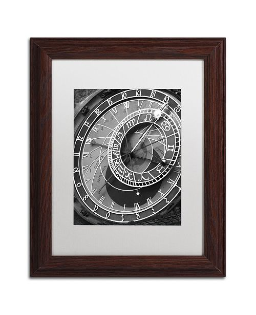 "Trademark Global Moises Levy 'Astronomic Watch Prague 11' Matted Framed Art - 14"" x 11"" x 0.5"""