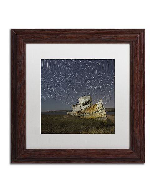 "Trademark Global Moises Levy 'Point Reyes I' Matted Framed Art - 11"" x 11"" x 0.5"""