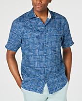 4932b1c3 Tommy Bahama Mens Casual Button Down Shirts & Sports Shirts - Macy's
