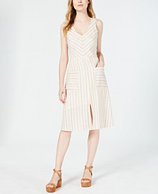 Petite Striped A-Line Dress