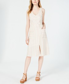 Monteau Petite Striped A-Line Dress