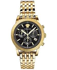 Women's Swiss Chronograph Gold-Tone Stainless Steel Bracelet Watch 40mm