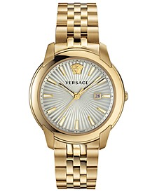 Men's Swiss V-Urban Gold-Tone Stainless Steel Bracelet Watch 42mm