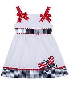 Rare Editions Baby Girls Seersucker Butterfly Dress