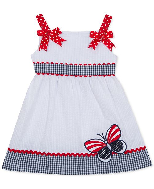 Rare Editions Baby Girls Seersucker Butterfly Dress