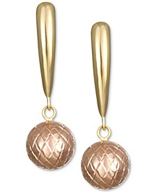 Ball Drop Earrings in 10k Gold