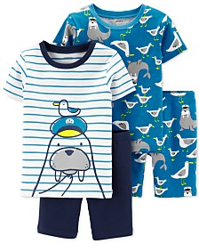 Carter's Toddler Boys 4-Pc. Cotton Walrus Pajamas Set