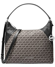 Aria Jacquard Signature Shoulder Bag