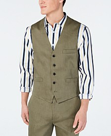 INC Men's Stretch Slim Linen Vest