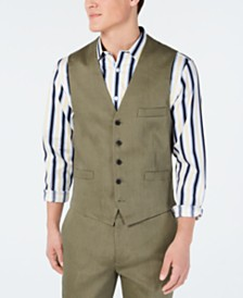 I.N.C. Men's Stretch Slim Linen Vest