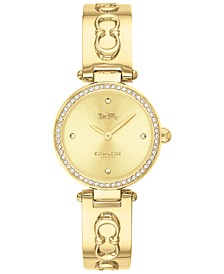 Women's Park Gold-Tone Stainless Steel Bangle Bracelet Watch 26mm