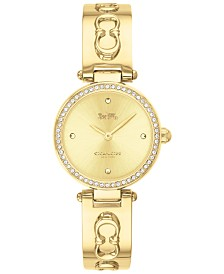 COACH Women's Park Gold-Tone Stainless Steel Bangle Bracelet Watch 26mm