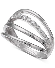 Cubic Zirconia Multi-Row Ring in Sterling Silver, Created for Macy's