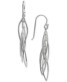 Giani Bernini Feather Drop Earrings in Sterling Silver, Created for Macy's
