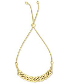 Large Link Chain Bolo Bracelet in 10k Gold