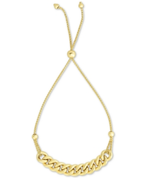 Large Link Chain Bolo Bracelet in 10k Gold
