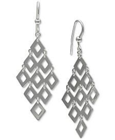 Giani Bernini Shaky Kite Drop Earrings in Sterling Silver, Created for Macy's