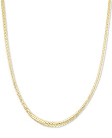 "Graduated Herringbone 18"" Chain Necklace in 14k Gold"