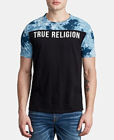 True Religion Men's Pattern Blocked Logo T-Shirt