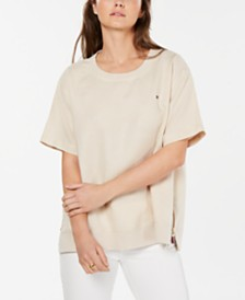 Tommy Hilfiger Linen Short-Sleeve Top, Created for Macy's