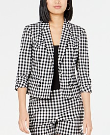 INC Gingham Jacket, Created for Macy's