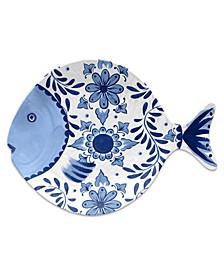 Cobalt Casita Figural Fish Tray