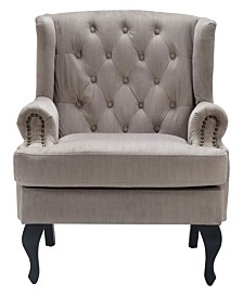 Serta Mason Tufted Armchair, Quick Ship