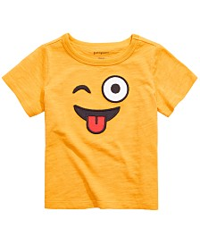 First Impressions Toddler Boys Emoji Face Tee, Created for Macy's