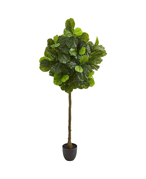 Nearly Natural 6' Fiddle Leaf Artificial Tree (Real Touch)