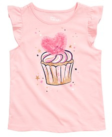 Epic Threads Little Girls Heart Cupcake Graphic Flutter Top, Created for Macy's