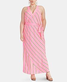 RACHEL Rachel Roy Plus Size Jacey Striped Racerback Maxi Dress