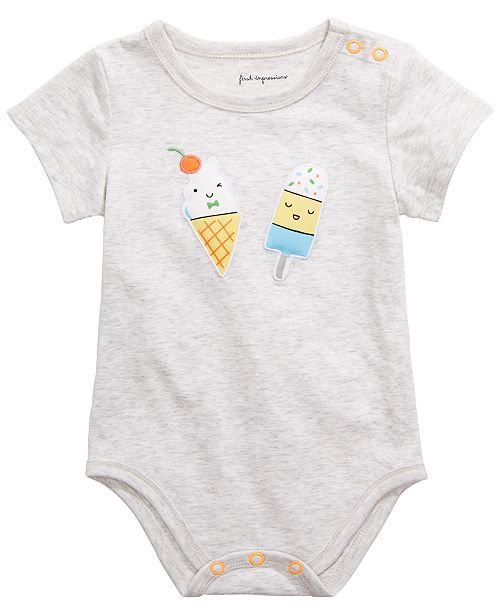 First Impressions Baby Boys or Girls Popsicle Graphic Bodysuit, Created for Macy's