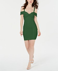 GUESS Mirage Cold-Shoulder Bandage Dress