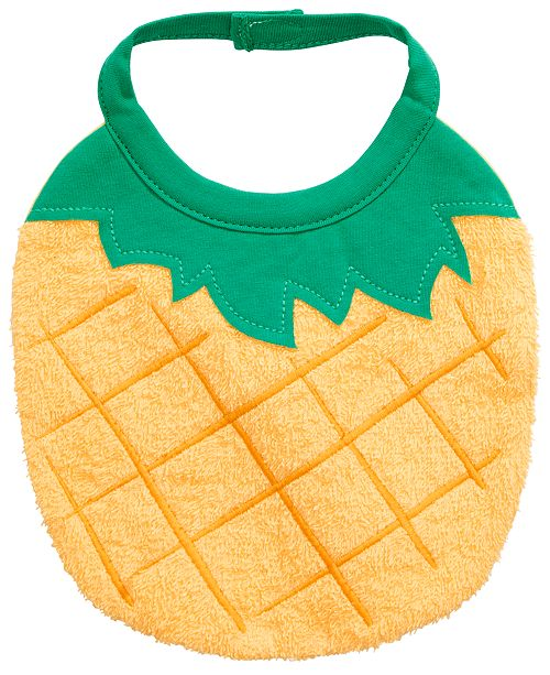 First Impressions Baby Boys or Girls Pineapple Bib, Created for Macy's