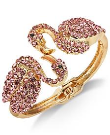 Thalia Sodi Gold-Tone Pavé Flamingo Cuff Bracelet, Created for Macy's