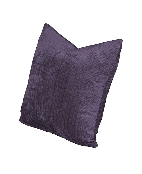 "Siscovers Vintage Plum 20"" Designer Throw Pillow"