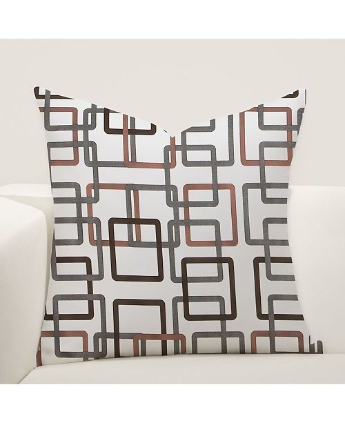 """Siscovers Square Fit 20"""" Designer Throw Pillow"""