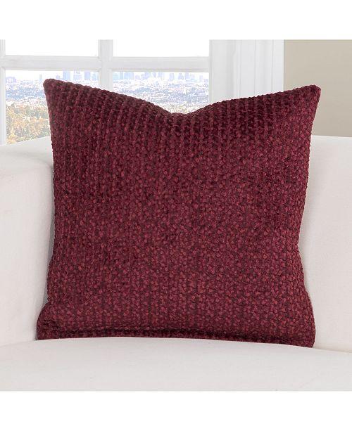 "PoloGear Tumbleweed Crimson 26"" Designer Euro Throw Pillow"