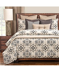 Sumatra Black 6 Piece Queen Luxury Duvet Set