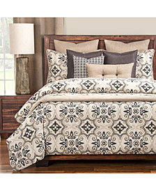 Siscovers Sumatra Black 6 Piece Queen Luxury Duvet Set