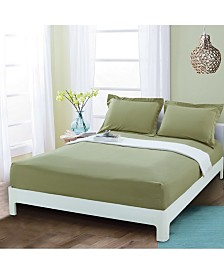 Elegant Comfort Silky Soft Single Fitted Sheet Full Sage