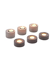 2-Tone Cement Tea Light Candleholders - Set of 6