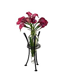 Danya B. Clear Amphora Vase with Wire Stand