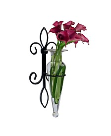 Amphora Vase on Fleur Lis Sconce