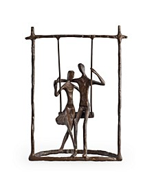 Couple on a Swing Cast Bronze